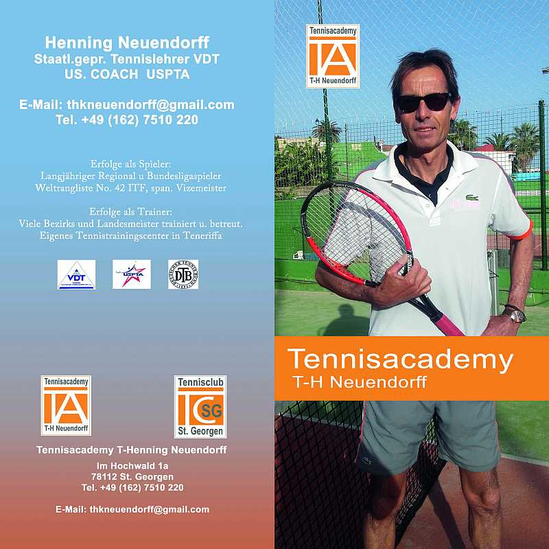 tennis academy flyer front